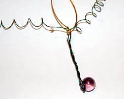 grape cluster ornament
