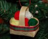 knitting basket ornament
