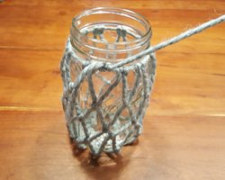 yarn knot mason jar