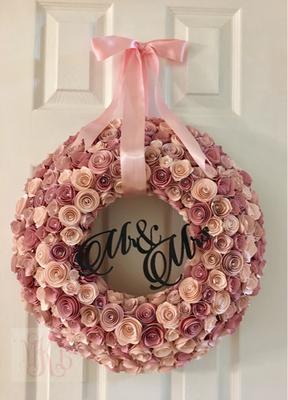 Paper Flower Wedding Wreath