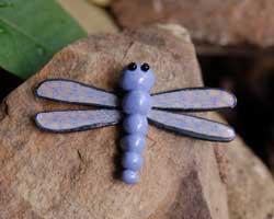 polymer clay dragonfly