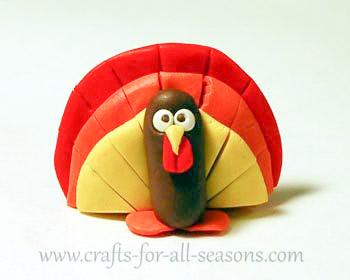 polymer clay turkey