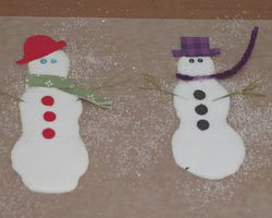 snowman glue craft