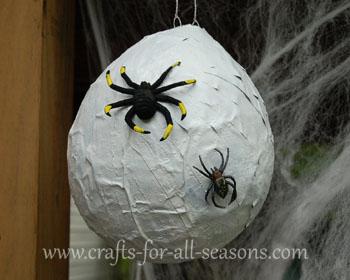 spider nest craft