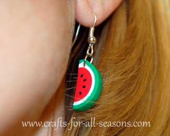 watermelon earrings