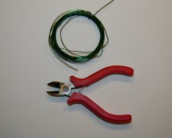 green wire and wire cutters