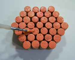 painting corks orange
